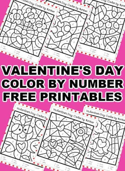 Valentine's Day COLOR BY NUMBER Printable