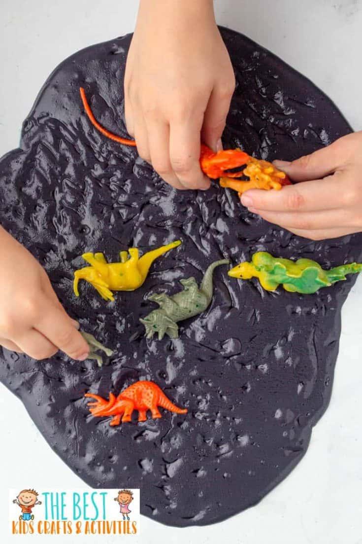 Dinosaur Tar Pit Black Slime