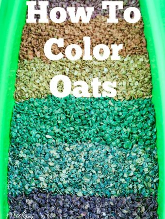 How to color oats for Sensory play