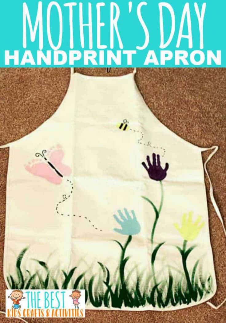 Mother's Day Handprint Apron