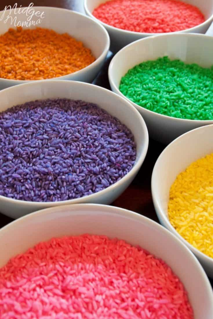 How To Dye Rice