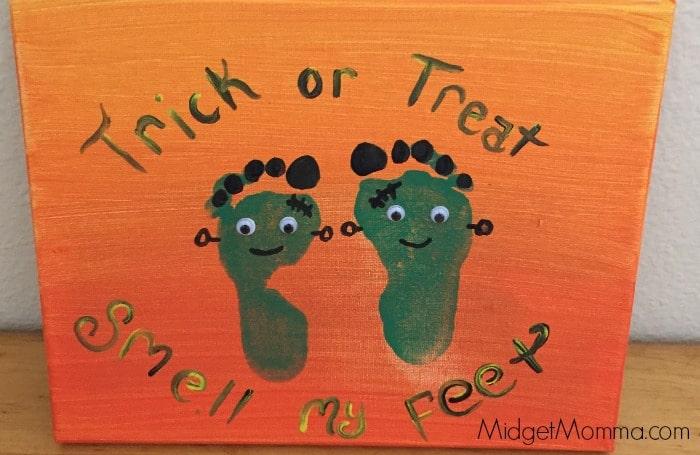 Frankenstein Footprint Canvas Art