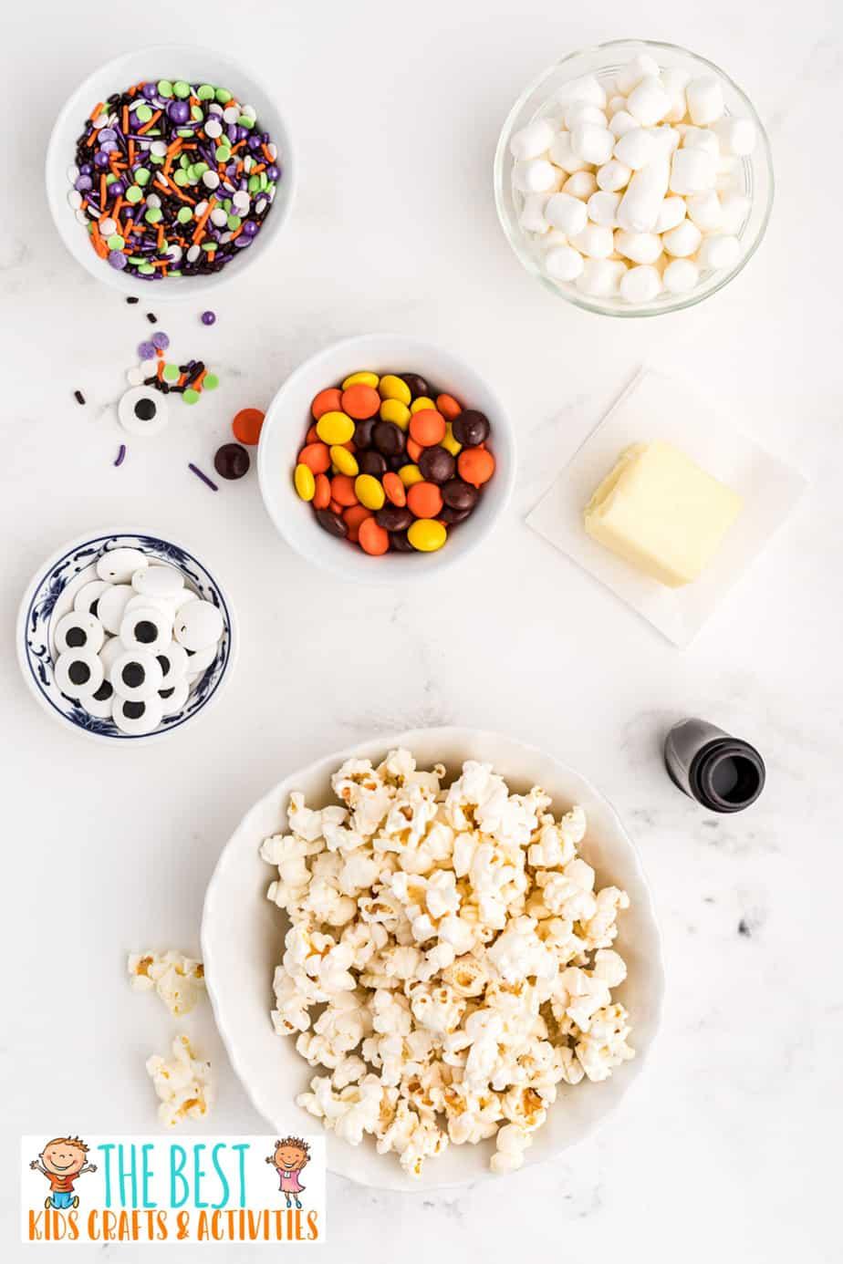 Halloween Popcorn Balls ingredients