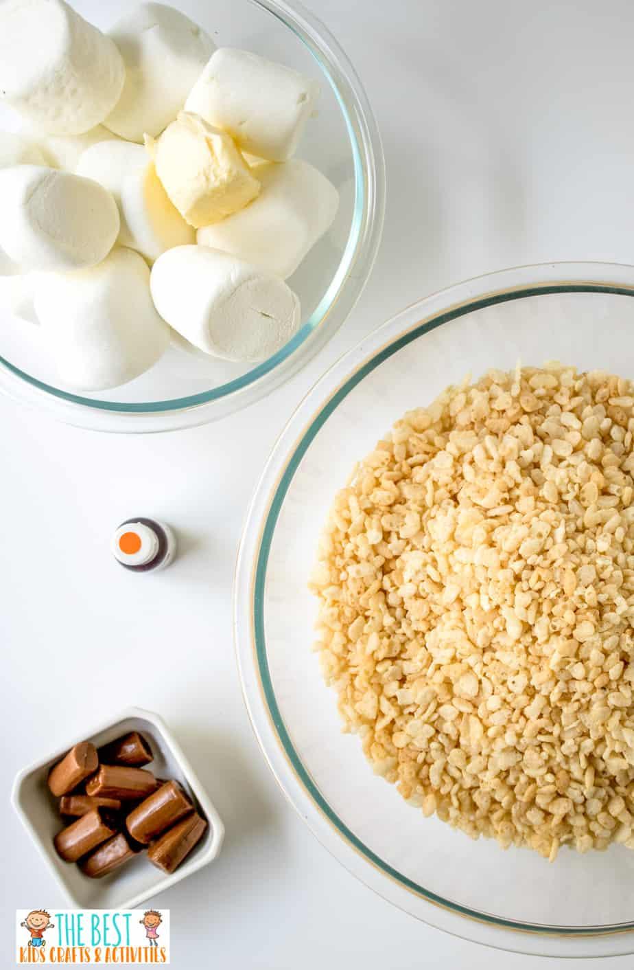 Pumpkin Rice Krispie Treats ingredients