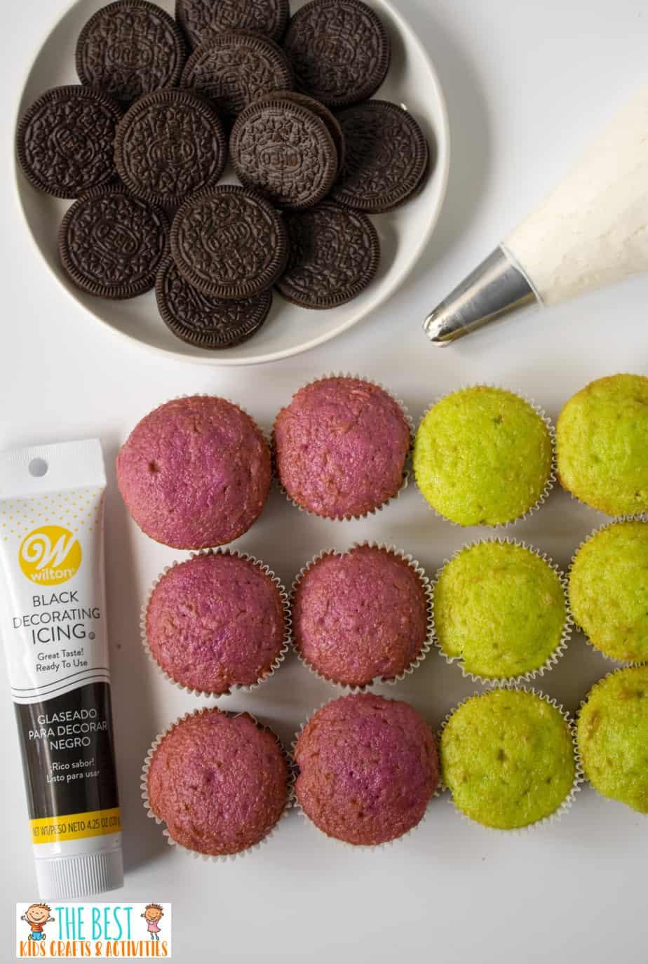 Spider cupcakes ingredients