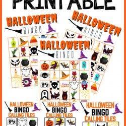Halloween Bingo printable game